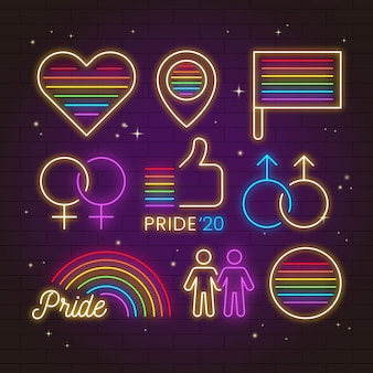 Neon singt design pride day event