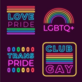 Neon singt design pride day