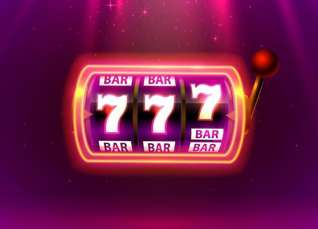 Neon spielautomat gewinnt den jackpot.