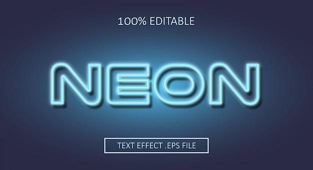 Neon text style effekt. bearbeitbarer schriftstil