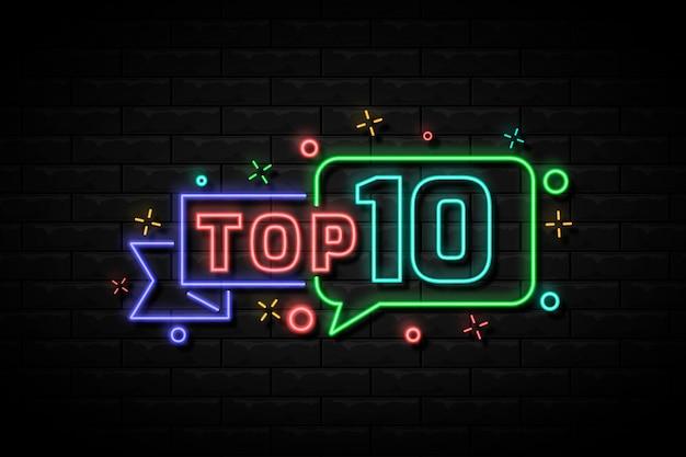 Neon top 10 auszeichnung