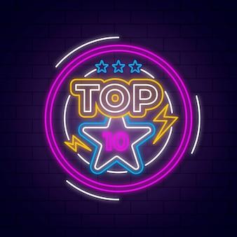 Neon top 10 vorlage