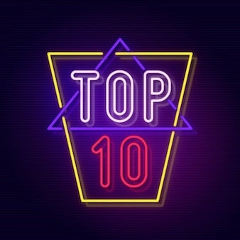 Neon top ten illustration
