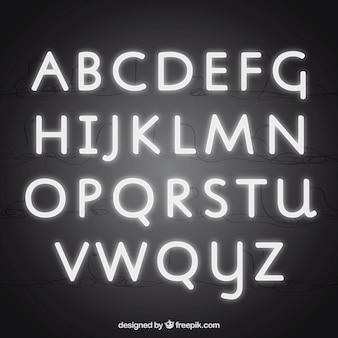 Neon typografie