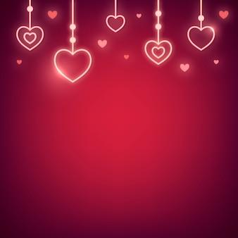 Neon-valentinstag-illustration