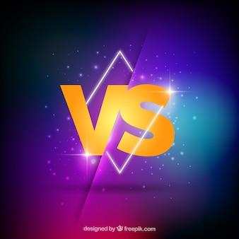 Neon versus hintergrund mit geometrie