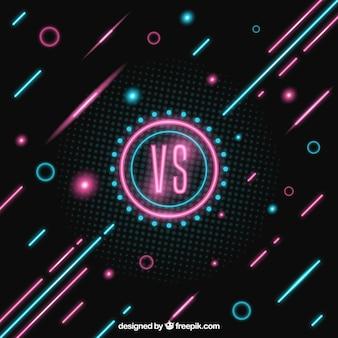 Neon versus hintergrund mit schönen stil
