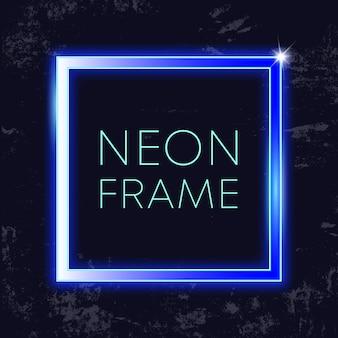 Neon vintage-rahmen