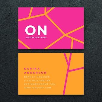 Neon visitenkarten-konzept