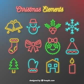Neon weihnachten attribute
