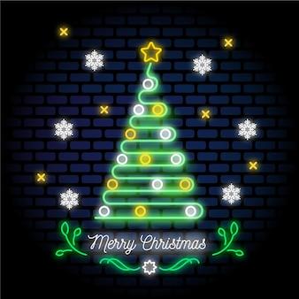 Neon weihnachtsbaum
