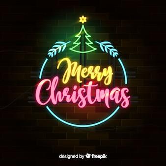 Neon weihnachtshintergrund
