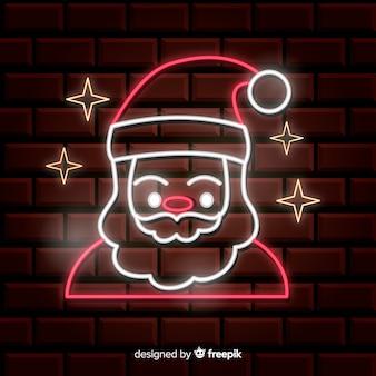 Neon weihnachtsmann hintergrund