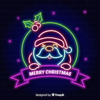 Neon weihnachtsmann