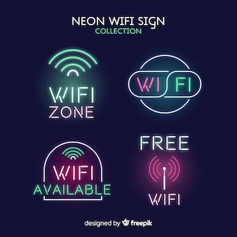 Neon wifi signal sammlung