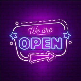 Neon wir sind offenes zeichen