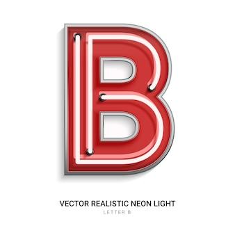 Neonbuchstabe b