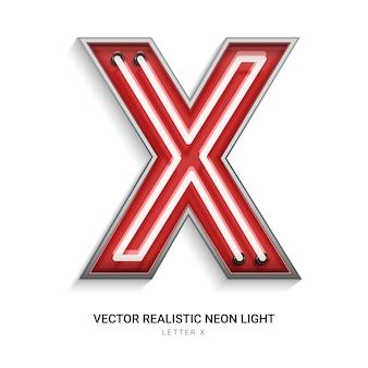 Neonbuchstabe x