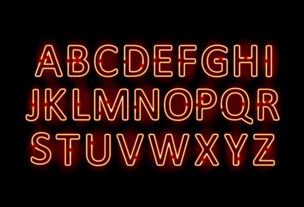 Neonbuchstaben grafikvorlage