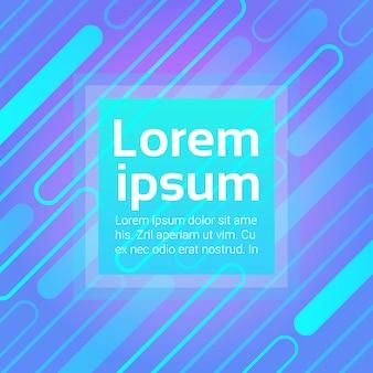 Neongrafikfahne mit abstraktem exemplarplatz