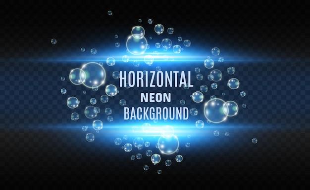 Neonhintergrund mit blasen für futuristische show.