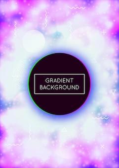 Neonhintergrund mit flüssigen purpurroten formen. leuchtende flüssigkeit. fluoreszierende abdeckung mit bauhaus-gefälle. grafikvorlage für buch, jährliche, mobile schnittstelle, web-app. schillernder neonhintergrund.
