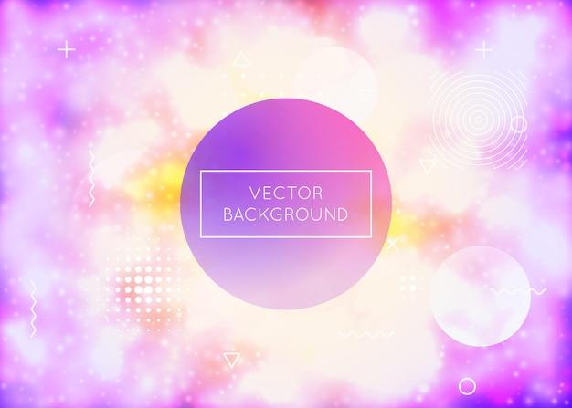 Neonhintergrund mit flüssigen purpurroten formen. leuchtende flüssigkeit. fluoreszierende abdeckung mit bauhaus-gefälle. grafikvorlage für plakat, präsentation, banner, broschüre. stilvoller neonhintergrund.