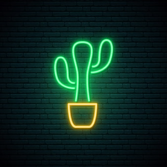 Neonkaktuszeichen.
