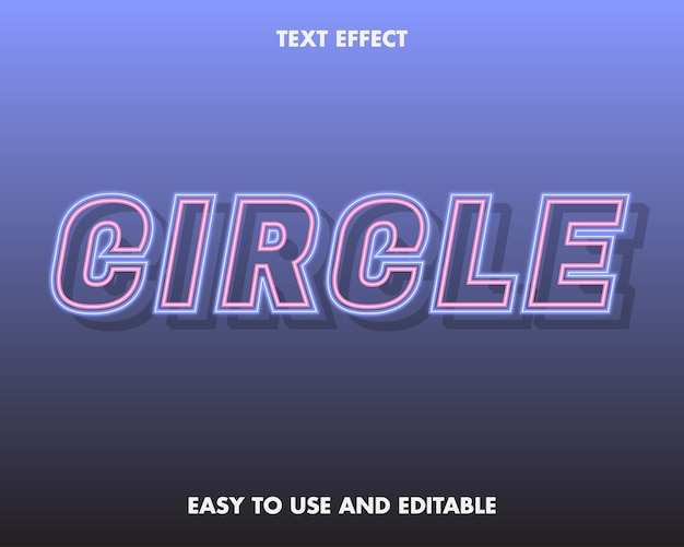 Neonkreis-texteffekt
