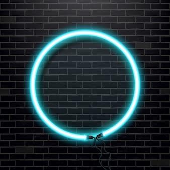 Neonlampenbirnenfahne.