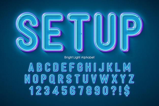 Neonlicht 3d-alphabet, extra leuchtender originaltyp.