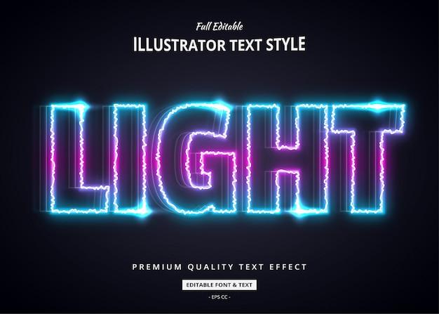 Neonlicht 3d textstil-effekt