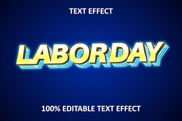 Neonlicht editierbarer texteffekt gelb blau