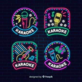 Neonlicht-karaoke-zeichensammlung
