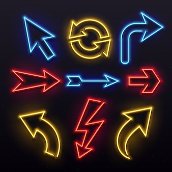 Neonlicht pfeile