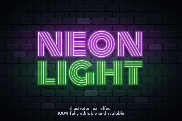 Neonlicht-texteffekt-design