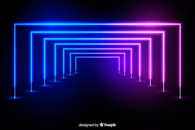 Neonlichtbühnenhintergrund