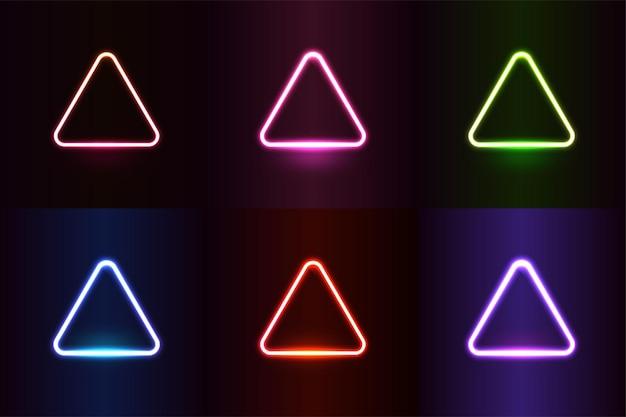 Neonlichteffekt formt bunt realistisch