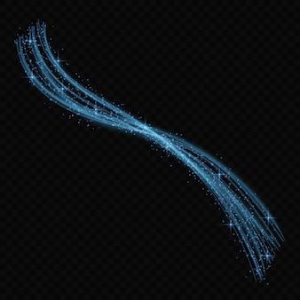 Neonlichteffektsterne platzen mit den lokalisierten scheinen