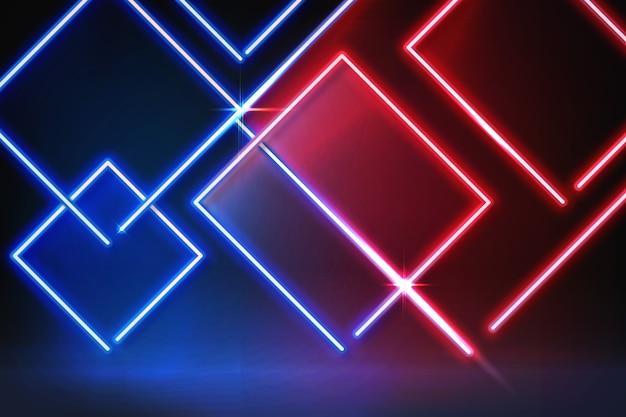 Neonlichter geometrischer formenhintergrund