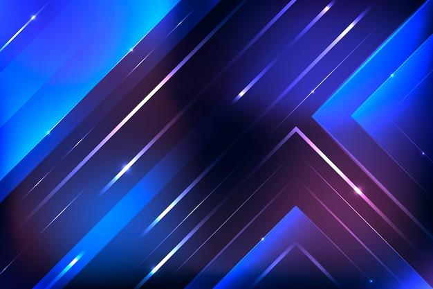Neonlichter geometrischer hintergrund