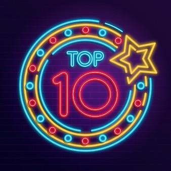 Neonlichter top 10 konzept