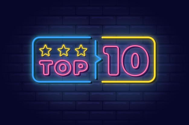 Neonlichter top 10 vorlage