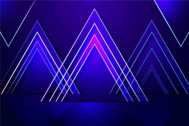 Neonlichthintergrund der geometrischen formen