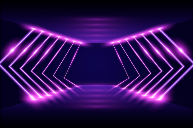 Neonlichthintergrund des abstrakten stils