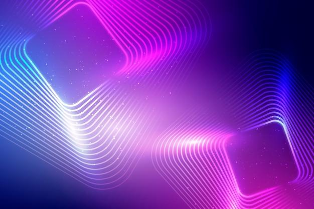 Neonlichthintergrund mit quadraten
