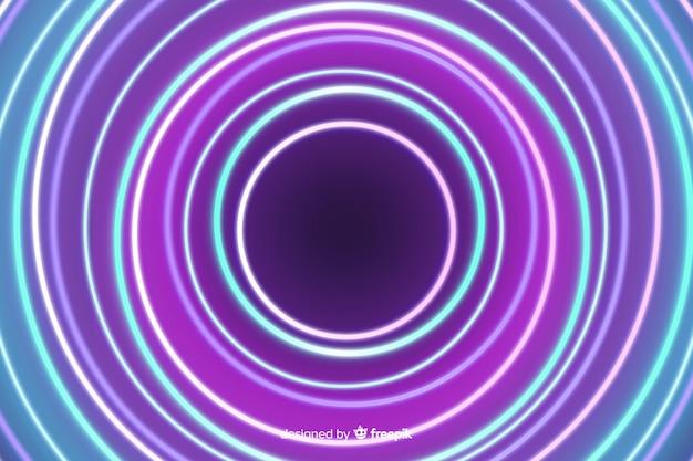 Neonlichtstufe hypnotisieren effekthintergrund