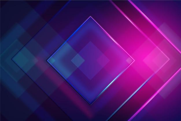 Neonlichttapete der geometrischen formen