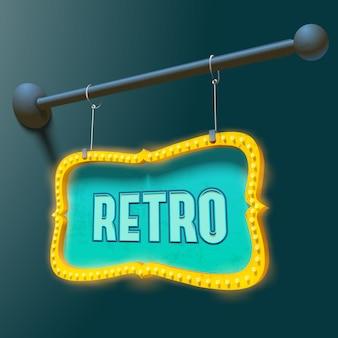 Neonmetallschild mit retro-inschrift
