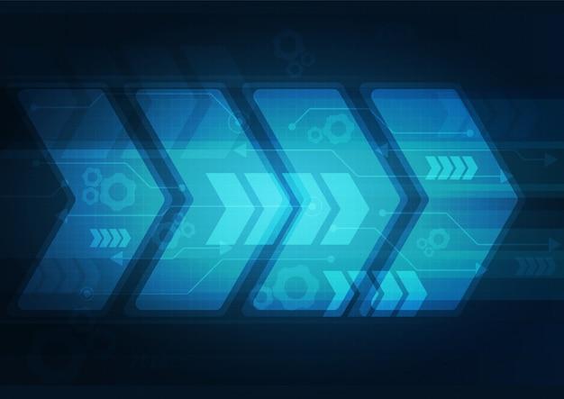 Neonpfeilgeschwindigkeit und technologiedaten laden zusammenfassung mit buntem hintergrundvektordesign